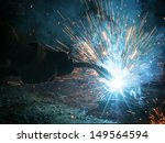 welding with sparks | Shutterstock . vector #149564594