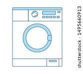 washing machine icon. thin line ...