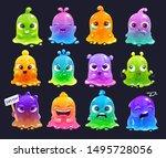 little cute cartoon colorful... | Shutterstock .eps vector #1495728056