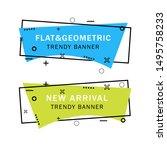 set of trendy flat geometric... | Shutterstock .eps vector #1495758233