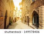 Spanish Suburban Street At...
