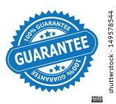 guarantee rubber stamp sign.... | Shutterstock .eps vector #149578544
