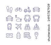 transport outline icon vector... | Shutterstock .eps vector #1495787939