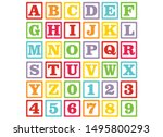 alphabet for children. kids... | Shutterstock .eps vector #1495800293