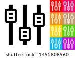 vertical sliders. line icon...