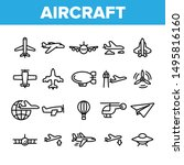 collection aircraft elements... | Shutterstock .eps vector #1495816160