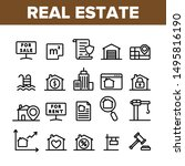collection real estate elements ... | Shutterstock .eps vector #1495816190