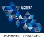 linear striped abstract vector... | Shutterstock .eps vector #1495843340