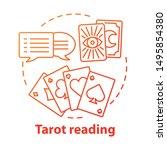 tarot reading concept icon.... | Shutterstock .eps vector #1495854380