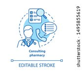 consulting pharmacy concept... | Shutterstock .eps vector #1495855619