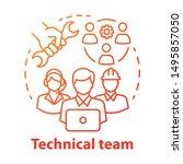 technical team concept icon....   Shutterstock .eps vector #1495857050