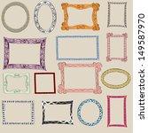 set of cute frame. victorian... | Shutterstock .eps vector #149587970