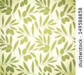 Seamless Pattern Olive On Beig...