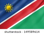fabric flag of namibia | Shutterstock . vector #149589614