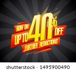 up to 40  off  further... | Shutterstock .eps vector #1495900490