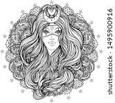 moon princess. tribal fusion... | Shutterstock .eps vector #1495900916