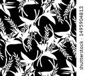 tropical seamless pattern... | Shutterstock .eps vector #1495904813