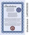 blue invitation. easy to print. ... | Shutterstock .eps vector #1495905050