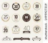 anniversary celebration... | Shutterstock .eps vector #1495927319