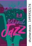 vector jazz festival poster...   Shutterstock .eps vector #1495932176