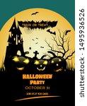 halloween party invitation ...   Shutterstock .eps vector #1495936526
