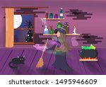 halloween  witch magic fantasy... | Shutterstock .eps vector #1495946609