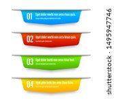 ribbon color banners. a vivid... | Shutterstock .eps vector #1495947746