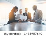 diverse group of businesspeople ... | Shutterstock . vector #1495957640