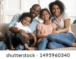 african married couple and... | Shutterstock . vector #1495960340