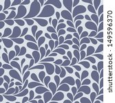 floral seamless pattern in blue ... | Shutterstock .eps vector #149596370