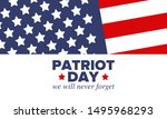 patriot day in united states....   Shutterstock .eps vector #1495968293