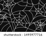 halloween background. vector... | Shutterstock .eps vector #1495977716