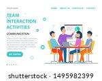 team interaction activities... | Shutterstock .eps vector #1495982399