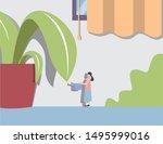 businesswoman watering flower... | Shutterstock .eps vector #1495999016