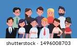 group of business men and women ...   Shutterstock .eps vector #1496008703