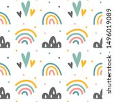 minimalistic scandinavian style ... | Shutterstock .eps vector #1496019089