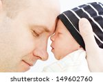 Happy Father With Newborn Son...