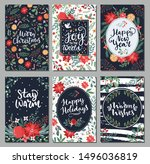 collection of christmas... | Shutterstock .eps vector #1496036819