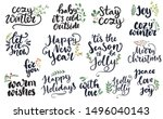 set of hand written lettering... | Shutterstock .eps vector #1496040143