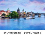 Charles Bridge In The Blue Hou...