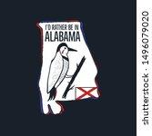 vintage alabama badge. retro... | Shutterstock .eps vector #1496079020