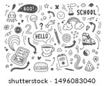 set of hand drawn doodle... | Shutterstock .eps vector #1496083040