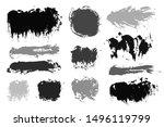 brush strokes. vector... | Shutterstock .eps vector #1496119799