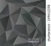 Dark grey background abstract polygon triangle style. Vector. Trendy. - stock vector