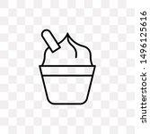 cupcake with cream icon...