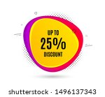 up to 25  discount. banner text ... | Shutterstock .eps vector #1496137343