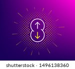 scroll down button line icon.... | Shutterstock .eps vector #1496138360