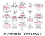 vector merry christmas festive... | Shutterstock .eps vector #1496159219