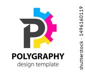 polygraphy and printing cmyk... | Shutterstock .eps vector #1496160119