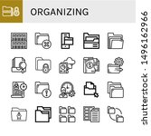 set of organizing icons such as ...   Shutterstock .eps vector #1496162966
